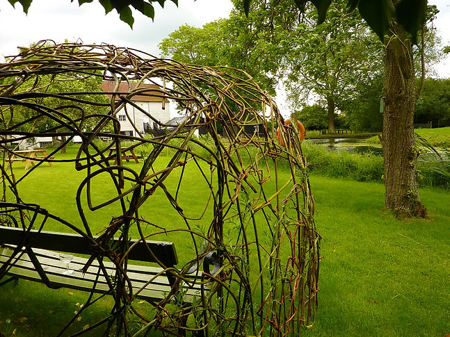 willow bower pakenham water mill, living willow, willow structure, woven worlds willow