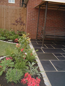 landscapes woven worlds, patio, patio service, natural paving, landscape services suffolk,