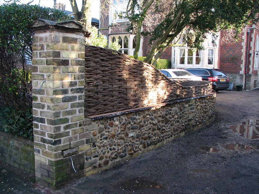 flint walls, flint and willow, old crafts flint, traditonal flint walls, flint work suffolk, flint man norfolk, woven worlds, graham north