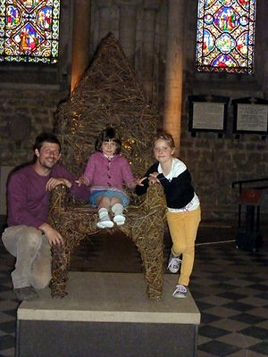 woven willow throne ely cathederal, willow chair, chairs, seats, thrones,