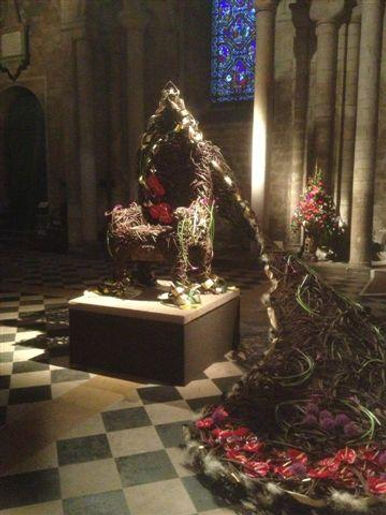 Ely cathederal flower festival willow throne, throne, willow chair, willow art, willow suffolk, willow norfolk, willow sculpture, woven worlds