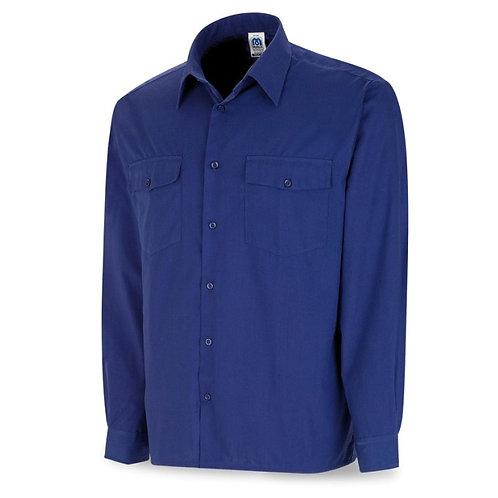 Camisa Tergal Manga Larga Azul