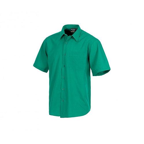 Camisa Tergal Manga Corta Verde