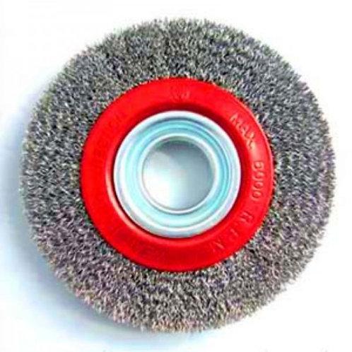 Cepillo circular de alambre ondulado