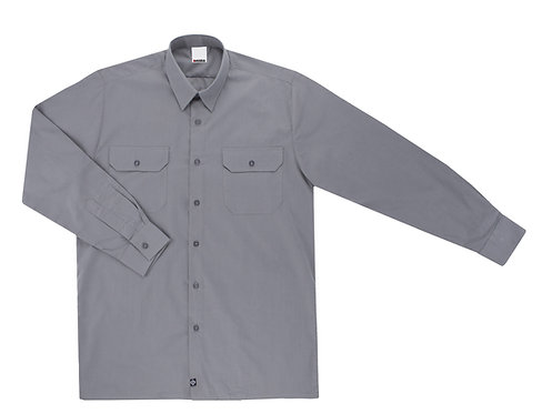 Camisa Tergal Manga Larga Gris