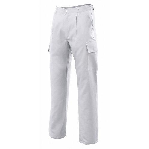 Pantalón Multibolsillos Blanco