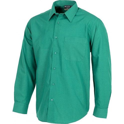 Camisa Tergal Manga Larga Verde