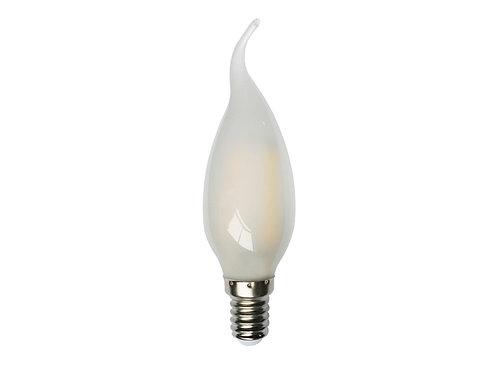 Lámpara Vela Filamento Led Punta Torcida