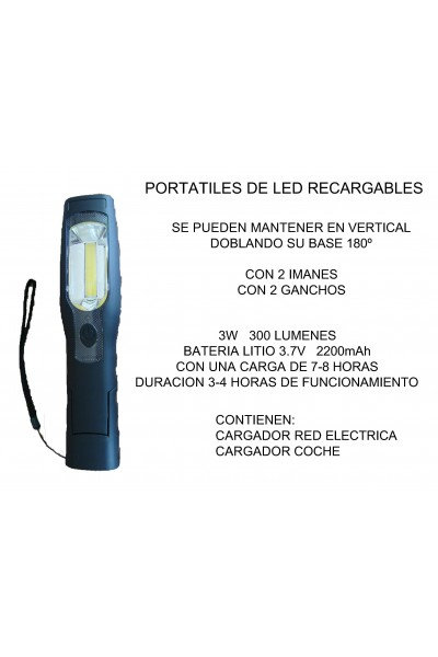 PORTATIL DE LED RACALGABLE