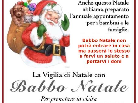 La vigilia di Natale con Babbo Natale a casa tua!