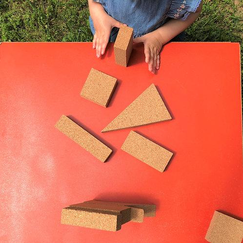 Natural Cork Block Set