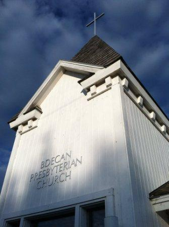 Bdecan Presbyterian Church (Top of Church with Cross)