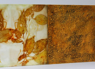 ENCAUSTIC ECOPRINTS ~ WHAT FUN!