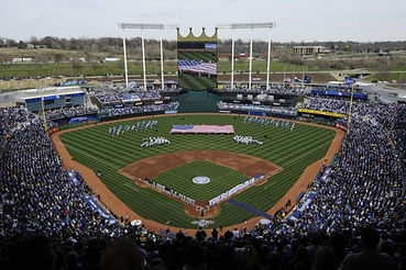 Kc bands featuring the KC All Stars at Kauffman Stadium for a Royals game in Kansas City, Missouri