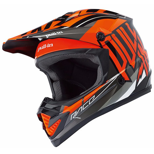CASCO DA CROSS PULL-IN MOTO KID - ARANCIONE -
