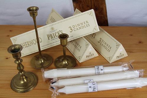 3 Stück edle englische Kerzen