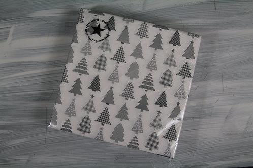 Papierservietten mit Tannenbäumen