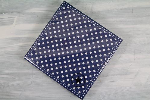 Papierservietten  dunkelblau mit weissen Punkten