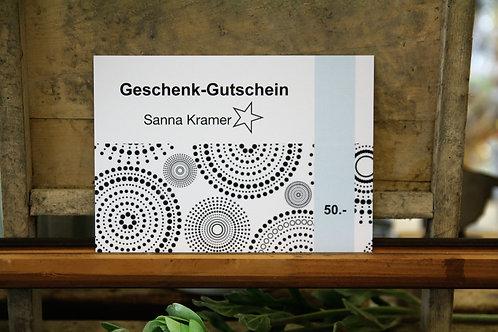 Geschenk-Gutschein 50 Franken