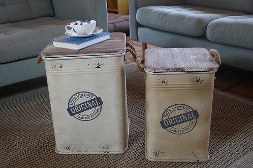 1 Set Boxen aus Blech - vintage
