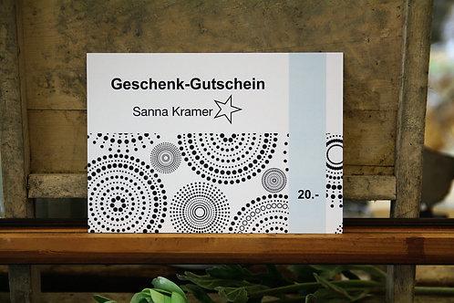 Geschenk-Gutschein 20 Franken