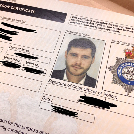 Getting your Shotgun Certificate