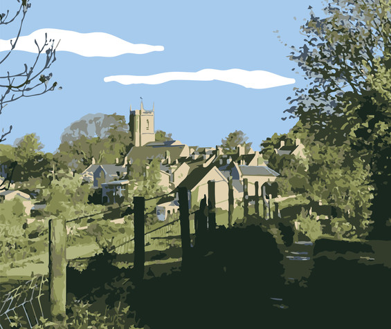 Marshfield View Illustration