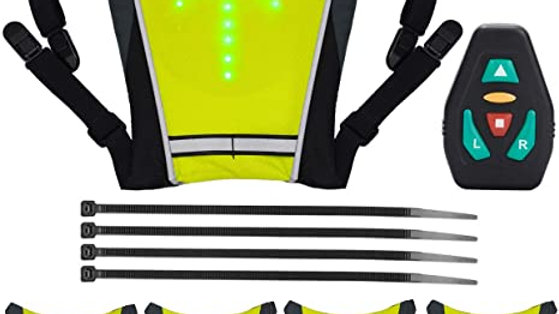 Chaleco reflectivo con direccionales luz led