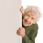 Smiling active older woman