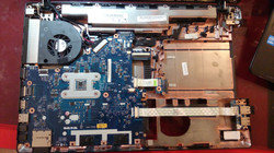 Inside a laptop