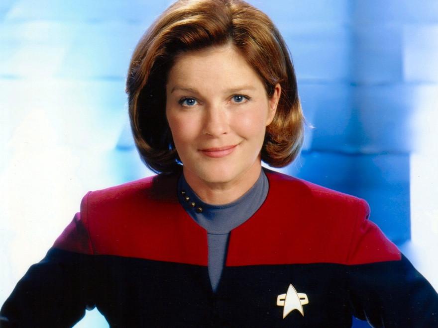 Kate Mulgrew as Captain Kathryn Janeway in Star Trek Voyager
