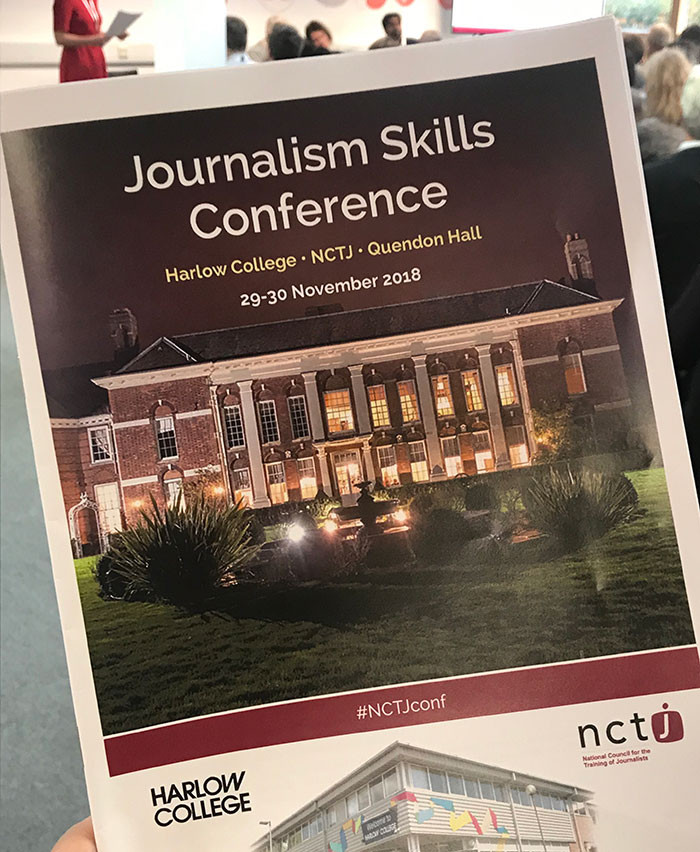 The 2018 NCTJ Journalism Skills Conference was hosted at Harlow College Journalism School