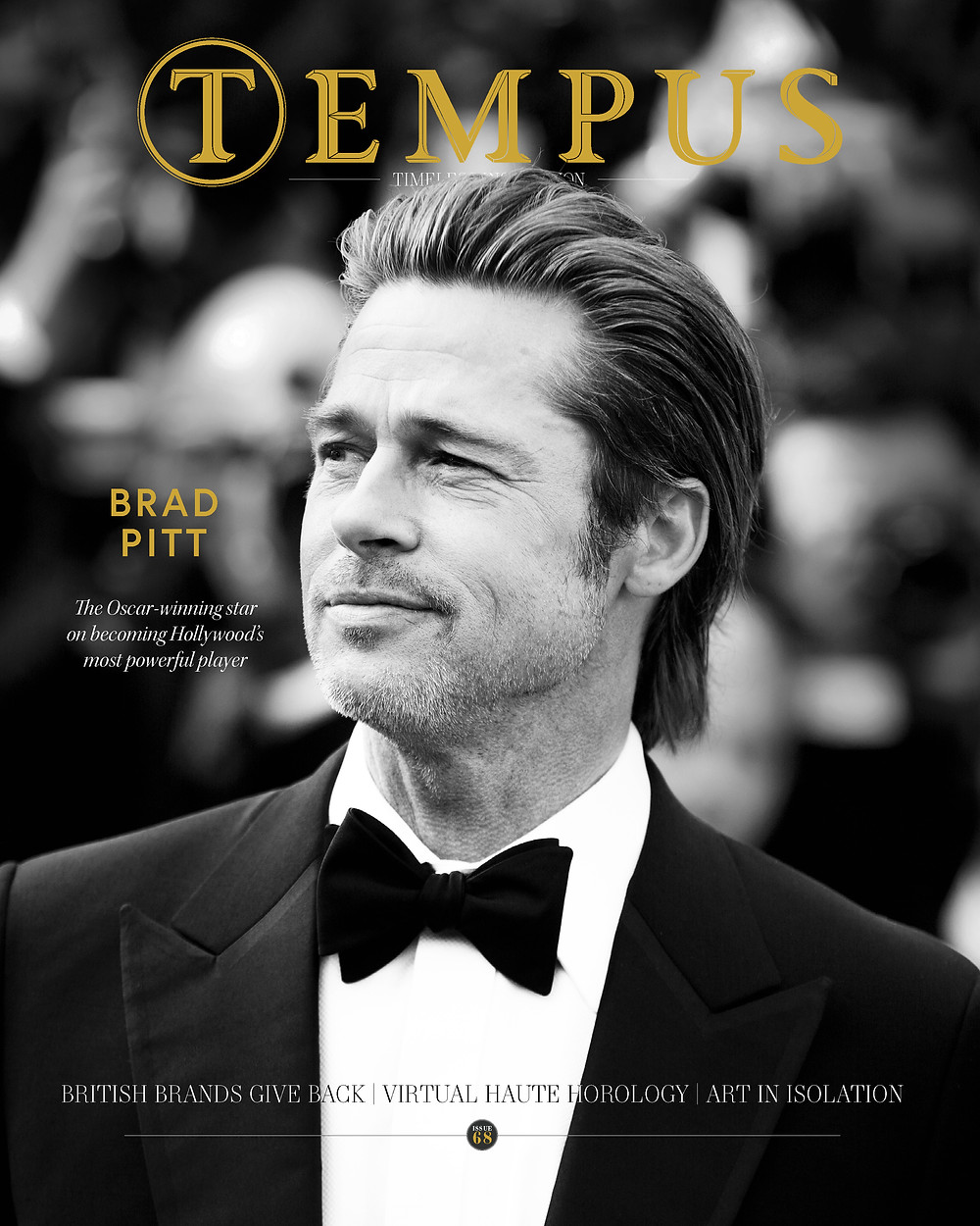 Brad Pitt on the cover of Tempus Magazine issue 68, June/July 2020