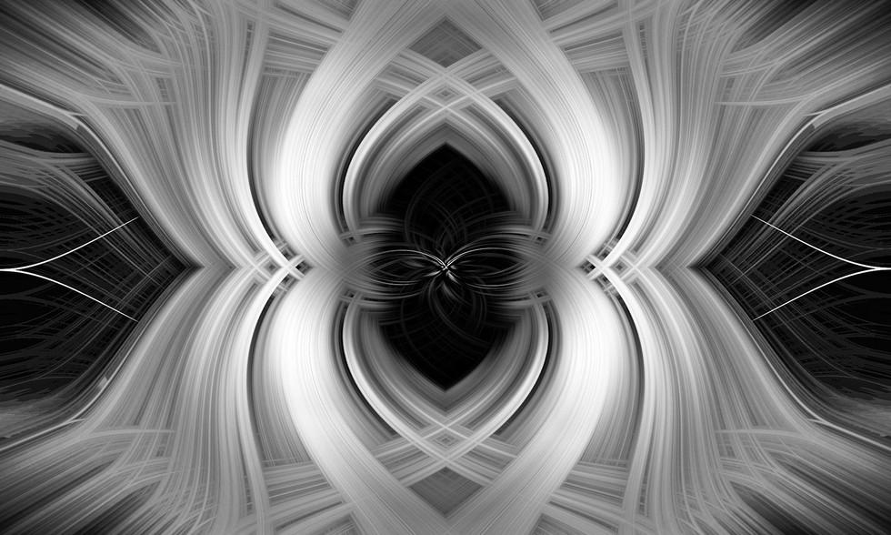 'Monochrome Symmetry' by Muriel Darling (12 marks)