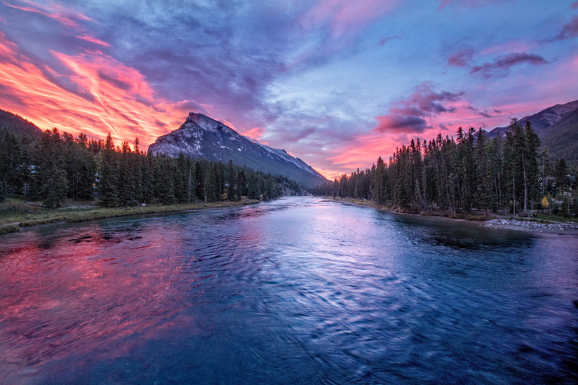 PDI - Bow River Sunrise by John McCullough (10 marks)