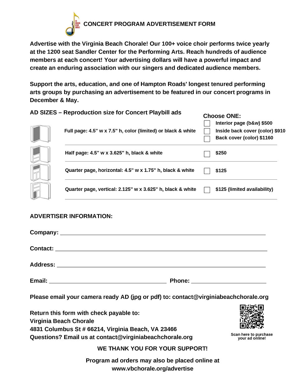 VBC Concert Program Advertisement Form-p