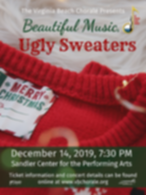 Beautiful Music, Ugly Sweaters Poster.pn