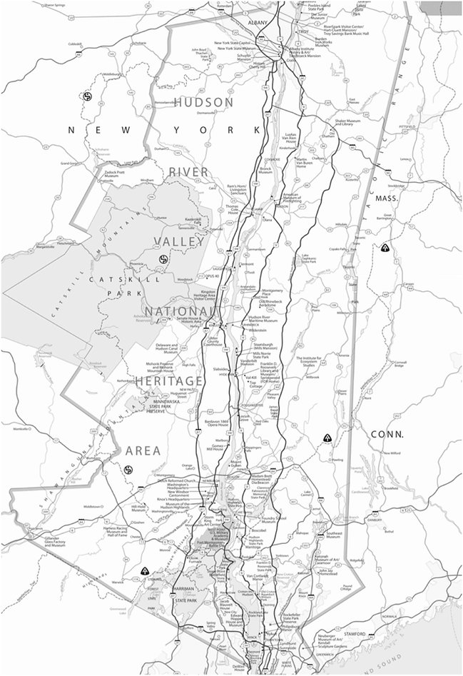 Map of Hudson Valley