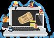 A Order ticket online cartoon.png