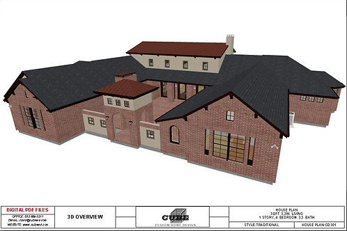 CD-301, 1 STORY, 4 BEDROOM, 3.5 BATH, 3,396 SQFT., TRADITIONAL
