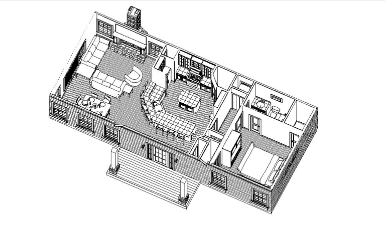 HOUSE PLAN-TH01-OPEN OVERVIEW