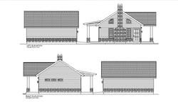 HOUSE PLAN-TH01-LFT&RGHT ELEVATION