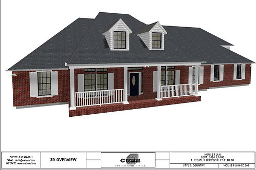 CD-203 1 STORY, 3 BEDROOM, 2.5 BATH, 2,494 SQFT.