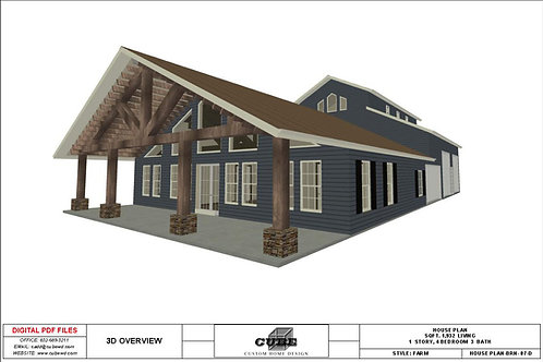 PLAN BRN 07 D, 1 STORY, 4 BEDROOM 3 BATH, 1,932 SQFT