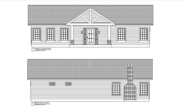 HOUSE PLAN-TH01-FRMT&REAR ELEVATION