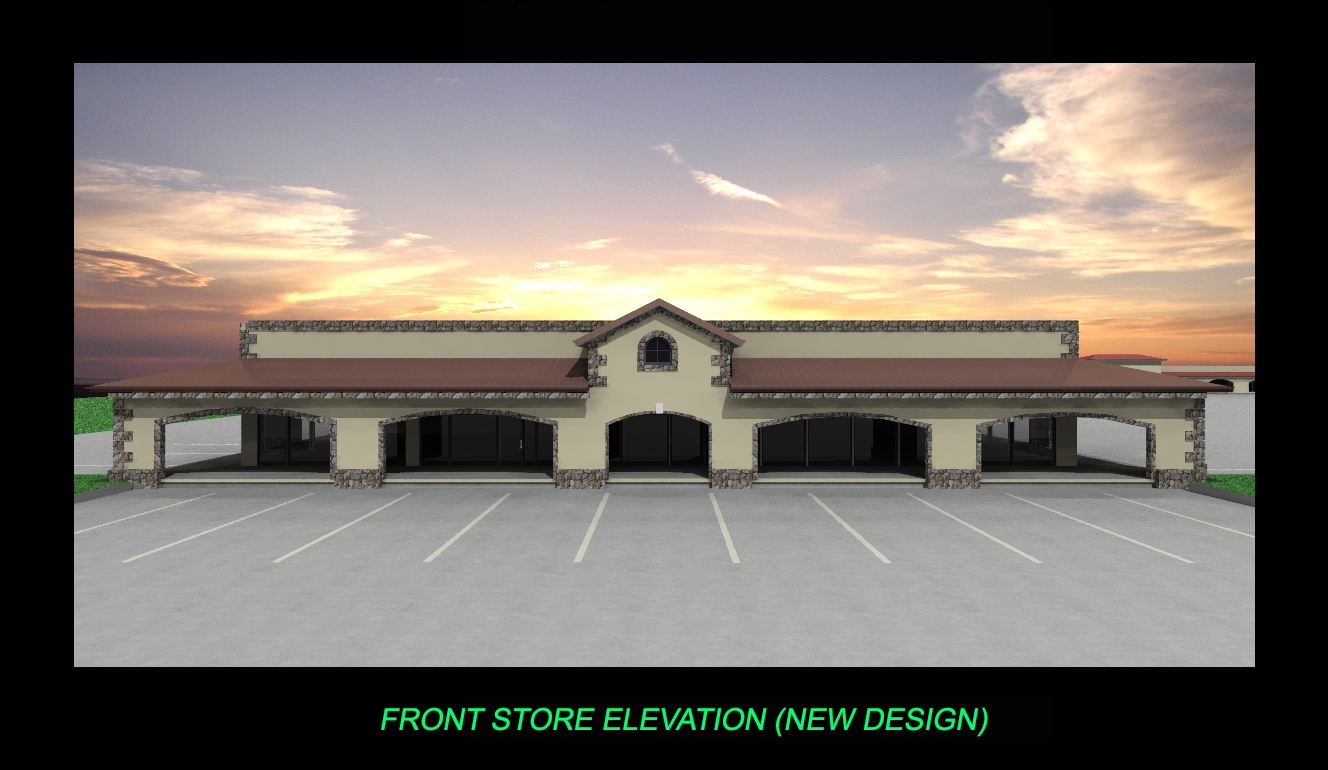 FRONT STORE ELEVATION