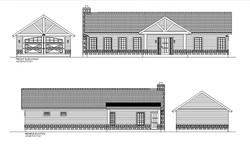 HOUSE PLAN-TH01-ELE-FRNT&REAR
