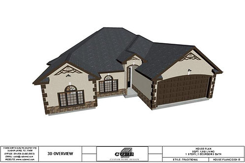 CD 220 B-1 STORY,  3 BEDROOM, 2 BATH, 1,965 SQFT.