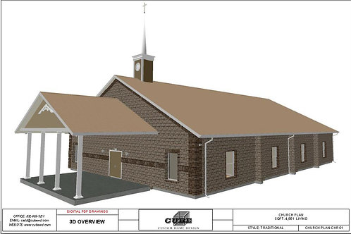 CHURCH PLAN CHR01, 1 STORY,  4,851 SQFT