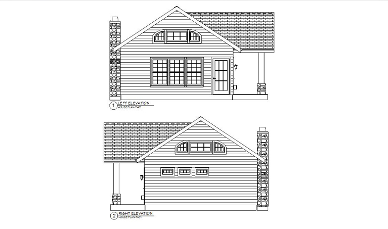 HOUSE PLAN-TH01-LFT&RHT ELEVATION
